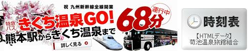 新幹線接続、特急バスの時刻表